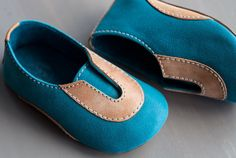 Jimmies Slip-on Baby Shoes - Turquoise | Made in USA. | TOE JAMM SHOES