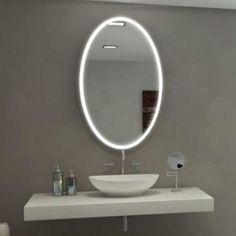 Galaxy Oval Illuminated Led Bathroom Mirror Best Lighting Designs For Home Remodeling Stylish Vanity Light Ideas Unique Bathoom Decor