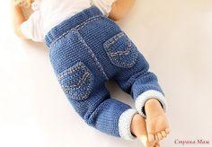 PDF-Häkelanleitung Jeanshose in Strickoptik. – Nombres de bebés y ropa de bebé. Crochet Baby Pants, Crochet For Boys, Knitting For Kids, Knitting For Beginners, Knitting Socks, Knit Crochet, Baby Pants Pattern, Boy Crochet Patterns, Cute Baby Dresses