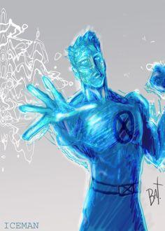 Iceman by BryaSaurusRex on deviantART Marvel Comics, Marvel Heroes, Marvel Comic Character, Marvel Characters, X Men, Robert Drake, Iceman Marvel, Avengers Story, Man Illustration