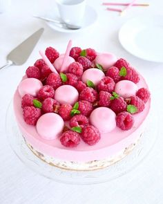 Raspberry Mousse, Fika, Food Cakes, Cheesecakes, Yummy Cakes, No Bake Cake, Afternoon Tea, Frosting, Cake Recipes