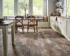 It's new. Revolutionary. And it's made from nature's hardest substance – cultured diamonds. Innovative Diamond 10™ Technology by Armstrong makes selected vinyl sheet flooring collections scratch, scuff and stain resistant.