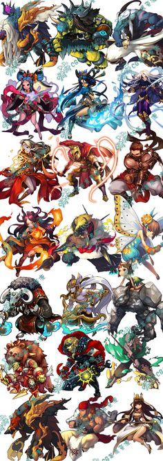 430游戏美术 韩国游戏 UI场景 ic...@肯不哦625采集到Q版插画(260图)_花瓣