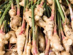 Pile of fresh homegrown ginger
