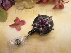 ID HOLDER  Retractable Badge Holder  Rhinestone by IdHolderPlus, $14.00
