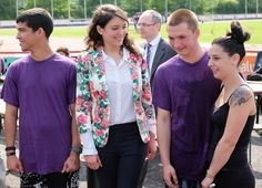 Princess Alexandra among students who compete on Sport Day, June 6, 2015