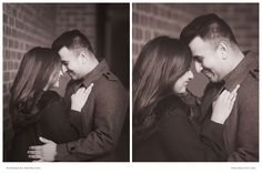 The couple shared an intimate moment during their portrait session at Old Town, Alexandria.