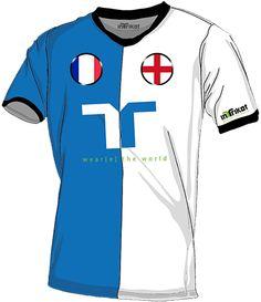 Frankreich - England l France - England kurzarm Trikot mit Wunschnamen und Wunschnummer