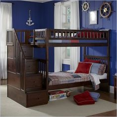 Atlantic furniture Columbia stair case bunk bed