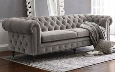 Tufted sofa available at @arhausfurniture