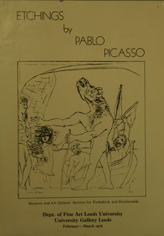 A lovely Picasso exhibition poster from 1976 - Stanley & Audrey Burton Gallery, University of Leeds, UK