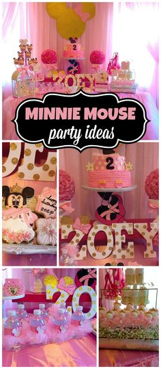 pretty is this Minnie Mouse ballerina birthday party? See more party ideas at ! Minnie Mouse 1st Birthday, Ballerina Birthday Parties, Minnie Mouse Theme, Baby 1st Birthday, 3rd Birthday Parties, Birthday Ideas, Minnie Mouse Decorations, Ballerina Party, Festa Party