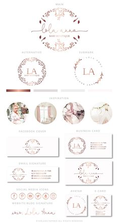 Find tips and tricks, amazing ideas for Fashion logo design. Discover and try out new things about Fashion logo design site Logo Floral, Fashion Logo Design, Web Design, Branding Kit, Branding Design, Logo Inspiration, Logo Boutique, Baby Boutique, Logos Photography