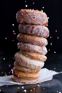 Leaning tower of doughnuts
