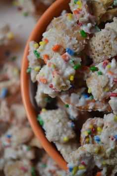 Cake Batter Chex Mix.