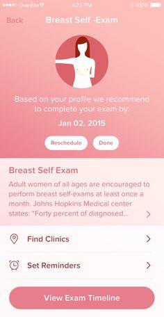 Self exam for breast cancer. #DesignItOn