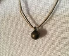 Antique Brass Ball Hemp Necklace / Men's Necklace / Women's Necklace / Vegan Necklace / Hippie / Dude / Eco Necklace / Earth Necklace by RevealedTreasuresByL on Etsy