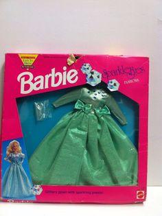 Vintage Lalka Barbie Sparkle Eyes Outfit | eBay