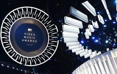 A view of the 2014 VMA stage at The Forum in Inglewood, California.