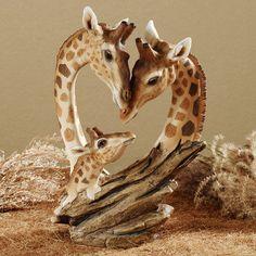 Giraffe Family Table Sculpture