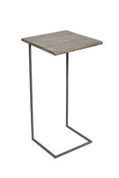 <ul> 	<li> 		Salvage wood and steel laptop table</li> 	<li> 		Sandblasted steel base</li> 	<li> 		Smooth salvage-style wooden table top</li> 	<li> 		Sleek design – tucks in under sofa</li> </ul>
