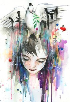 Watercolor Art by Lora-Zombie