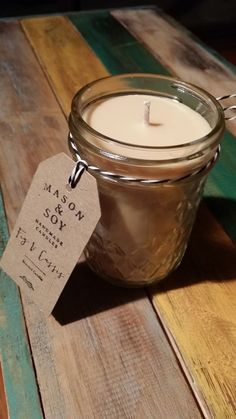 Mason Quilted Jar 8oz Scented Soy Candle by Masonandsoy on Etsy, $24.00                                                                                                                                                                                 More