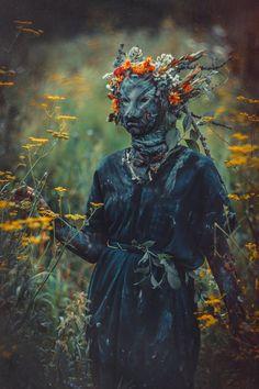 Forest Spriggan by Elena Nerium Oleander Dark Fantasy, Fantasy Art, Fae Aesthetic, Aesthetic Clothes, Dark Photography, Macabre Photography, Nerium, Larp, Faeries