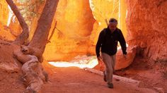 Tony hikes down the Queen's Garden trail before sunrise to catch the sun filling Bryce Canyon with orange light. Before Sunrise, Bryce Canyon, Antelope Canyon, Travel Usa, Utah, Trail, Road Trip, Hiking, Outdoors