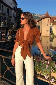 Classy Summer Outfits, Cute Casual Outfits, Chic Outfits, Spring Outfits, Fashion Outfits, Europe Outfits Summer, Summer Fashions, Woman Outfits, Summer Vacation Outfits