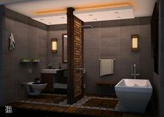 Bathroom, Designed by Mahdi Ashoori & Alireza khodadad , located on niyavaran,tehran,iran