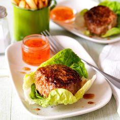 Korean Pork Burgers with Chips