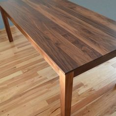 Custom Made Solid Walnut Dining Table | Home: Dining Table/Chairs ...