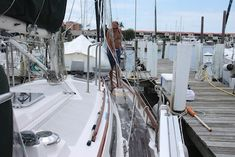 """Why you need to wash down your boat as often as possible.  Salt left on stainless and gel coat causes pitting and chalking and the crystals cause scratches and abrasions.  And the same with every other boat part.  Salt has an amazing ability to turn even a brand new boat into an """"old"""" boat very quickly"""
