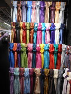 York Scarves' array of silk scarves Pashmina Scarf, Silk Scarves, Fair Trade, Home Gifts, Scarf Wrap, Wraps, York, Design
