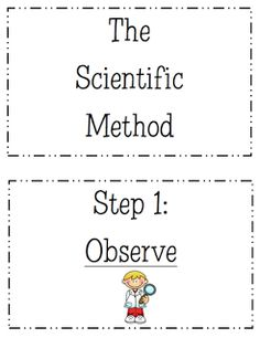 """The Best of Teacher Entrepreneurs: FREE SCIENCE LESSON - """"Scientific Method Display Posters"""""""