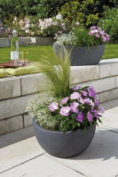 7 Front Yard Flower Garden Ideas That Will Give a Charm To Your House Outdoors Whether for summer or spring this flower bed is so exciting to your garden. When the weather gets warm your flowers will give your outdoor space feel . Outdoor Planters, Flower Planters, Garden Planters, Container Gardening Vegetables, Container Plants, Flower Landscape, Flowers Perennials, Colorful Garden, Small Flowers