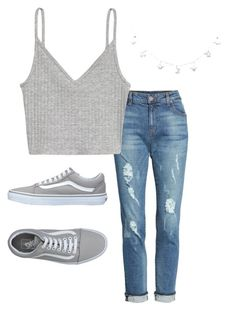 """*7"" by kkayyllee on Polyvore featuring KUT from the Kloth, H&M and Vans"