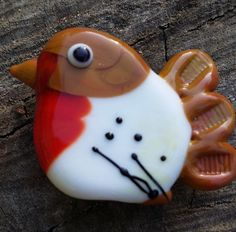 Handmade Lampwork Focal Bird Bead by SandsofTimeDesigns on Etsy