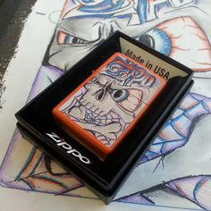 No bones about it, this #Zippo lighter designed during #Rocklahoma is HOT!