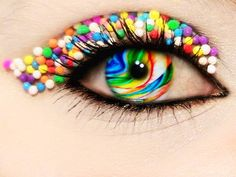 Stunning Piece Of Eye Candy! - Sprinkles make for unique makeup and creative artistry.