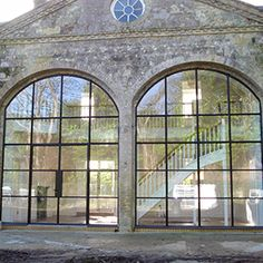 Arched Windows Crittall Arched Windows From the Windows to the Wall Barn Windows, Steel Windows, House Windows, House Doors, Arched Doors, Arched Windows, Windows And Doors, Crittall Windows, Glass Barn Doors