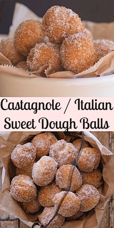 Castagnole (sweet dough balls) a delicious Italian Carnival recipe. Soft on the … Castagnole (sweet dough balls) a delicious Italian Carnival recipe. Soft on the inside and crunchy on the outside. Yummy and perfect. Italian Cookie Recipes, Italian Cookies, Italian Desserts, Italian Dishes, Italian Donuts, Italian Dinner Recipes, Sicilian Recipes, Köstliche Desserts, Delicious Desserts