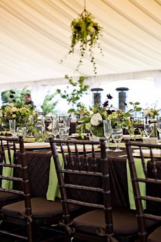 Green and brown wedding reception table green crinkle taffeta pretty earthy brown green wedding junglespirit Choice Image