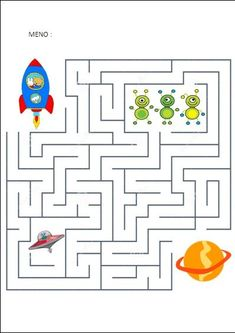 Maze game is the best online game.In maze game player have to move the ball and he had to reach the star without touching the walls. Space Theme Preschool, Space Activities, Printable Activities For Kids, Indoor Activities For Kids, Kindergarten Activities, Preschool Activities, Solar System Projects, Solar System Games, Space Crafts For Kids