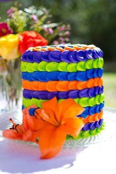 Colorful Summer Petal Cake