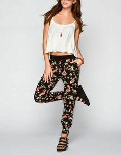 FULL TILT Floral Print Womens Jogger Pants