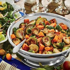 Caramelized Sweet Potatoes and Brussels Sprouts | Coastalliving.com