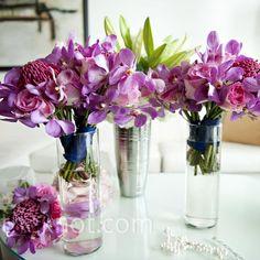 Pink Bridesmaid Bouquets