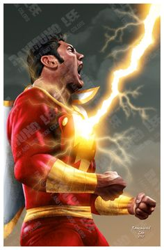Dave Bautista as Shazam by Raymund Lee #CaptainMarvel #DCComics #Superheroes